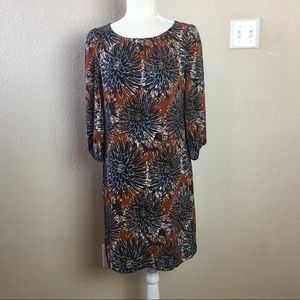 H&M Shift Floral Print Dress in Great Fall Colors